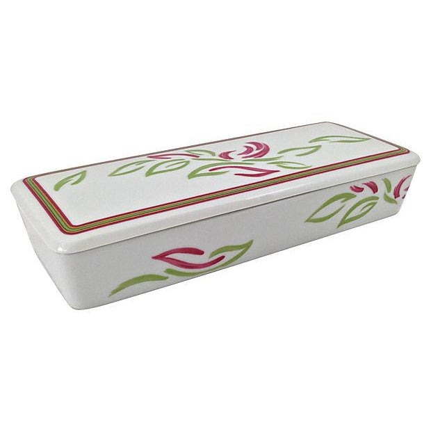 Vintage Tri-Section Box With Lid - Image 4 of 7