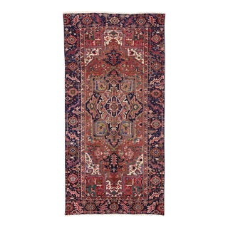 Antique Heriz Persian Gallery Rug with Modern Style For Sale