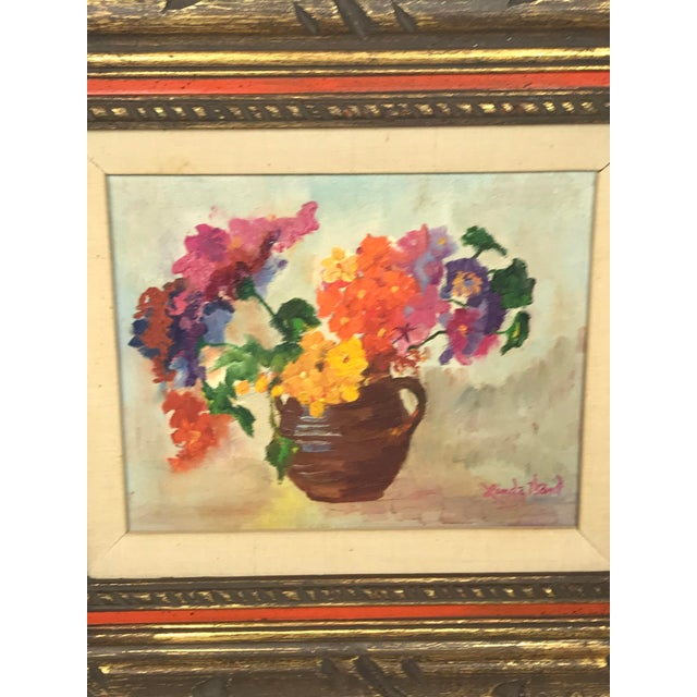 Shabby Chic 1970s Vintage Flower Still Life Oil on Canvas Painting For Sale - Image 3 of 11
