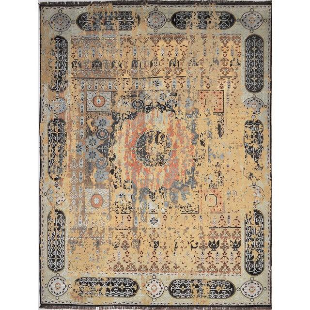 "Distressed Mamluk Design Heritage Area Rug - 7'8"" X 10'0"" For Sale - Image 4 of 4"