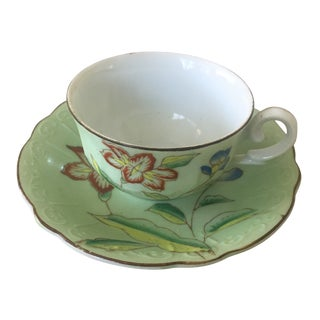 Japanese Cup and Saucer and a Small Bud Vase - Set of 3