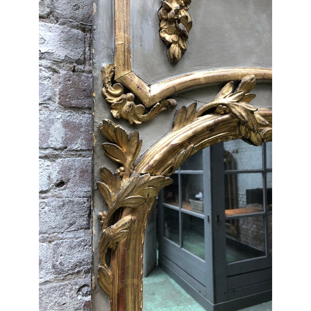 Louis XVI 18th Century Trumeau Mirror For Sale - Image 4 of 10