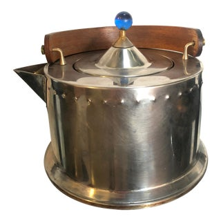 1980s Hammered Steel Tea Kettle by Carsten Jorgensen for Bodum For Sale