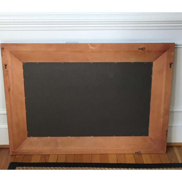 Pottery Barn Cherrywood Beveled Wall Mirror - Image 6 of 6