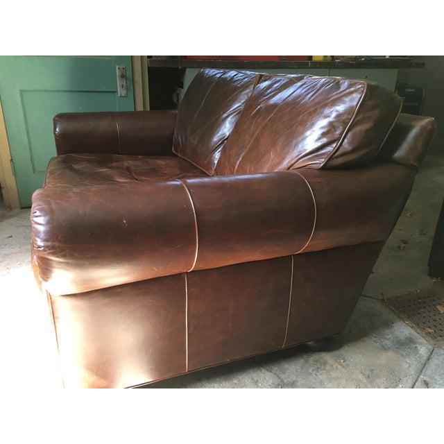Leather Sofas For Sale In Northern Ireland: Restoration Hardware Brown Leather Sofa