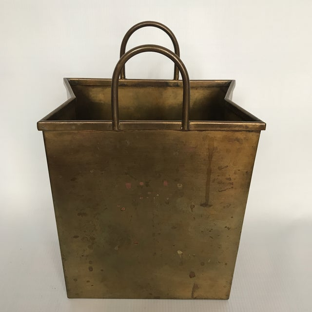 Small Vintage Brass Shopping Bag - Image 5 of 10