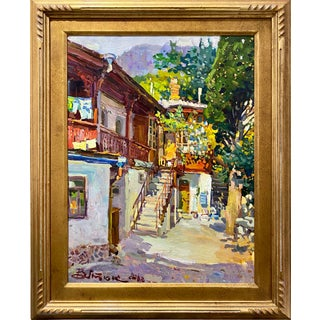 Colorful Russian Painting, Ivan Vityuk For Sale