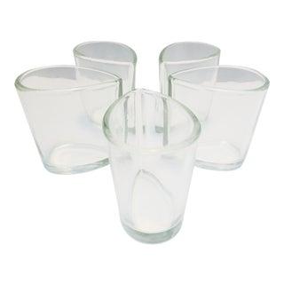 1950s Vintage John Curran for Ellin Rogin / Bonniers Glass Vessels, in Original Box - Set of 5 For Sale