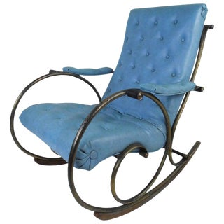 Mid-Century Modern Sculptural Rocking Chair by Lee Woodard For Sale