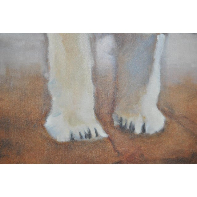 "Ute Simon ""Polar Bear"" Oil on Canvas Painting, Circa 2003 - Image 7 of 9"