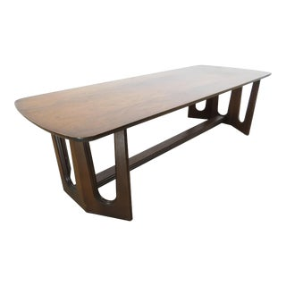 Vintage Harvey Probber Style Walnut Coffee Table For Sale