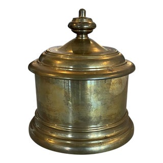 20th Century Brass Tobacco Canister For Sale