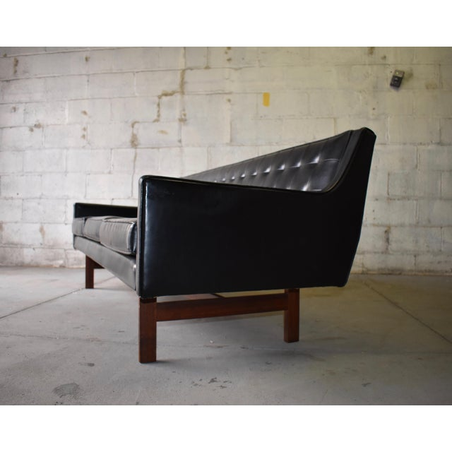 "Mid Century Modern ""James Bond"" Tufted Sofa / Couch - Image 5 of 9"