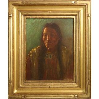 Indian Portrait by Joseph H. Sharp (1859-1953)