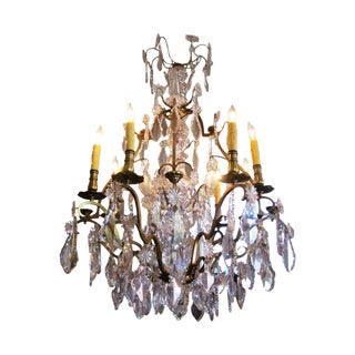 19th Century French Baccarat Crystal Chandelier For Sale