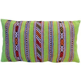 Green Striped Berber Pillow For Sale