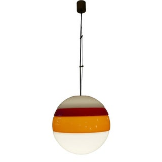Carlo Nason Glass Suspension Light For Sale