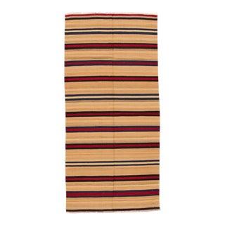 "Apadana - Fine Vintage Turkish Kilim, 4'8"" x 9'10"" For Sale"