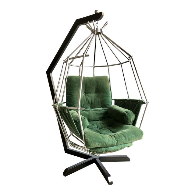 Mid Century Modern Ib Arberg Parrot Chair Hanging Birdcage Chair For Sale