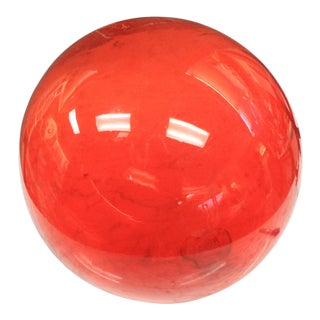 Vintage Mid Century Red Fish Float For Sale