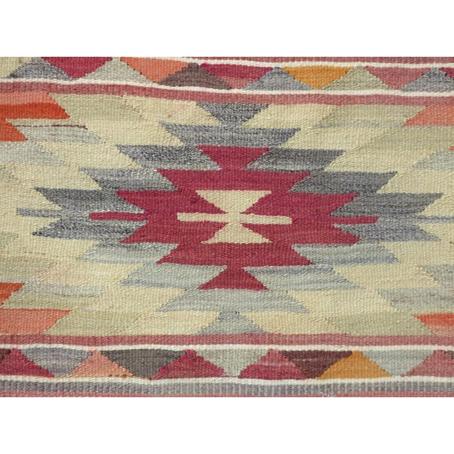 "Textile Anatolian Kilim Runner Pastel Colored Hallway -2'1'x10"" For Sale - Image 7 of 13"