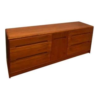 Mid Century Modern Christian Linneberg Teak Wood Lowboy For Sale