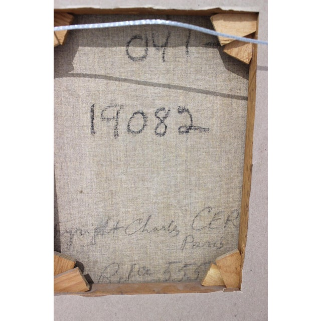 Mid-Century 1955 Charles Cerny Trompe l'Oeil Oil Painting For Sale - Image 10 of 13