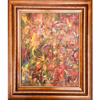 """""""Fireworks of Flowers"""" Contemporary Abstract Textured Original Oil Painting by Tim Hovde For Sale"""
