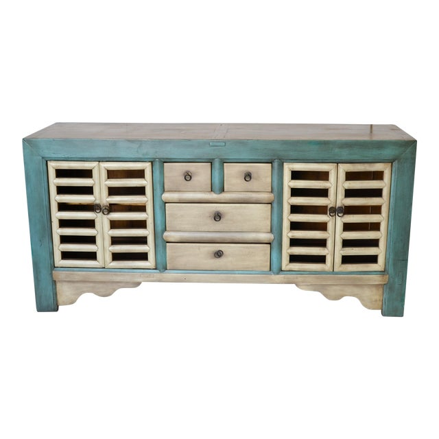 Vintage Chinese 4 Door Buffet For Sale