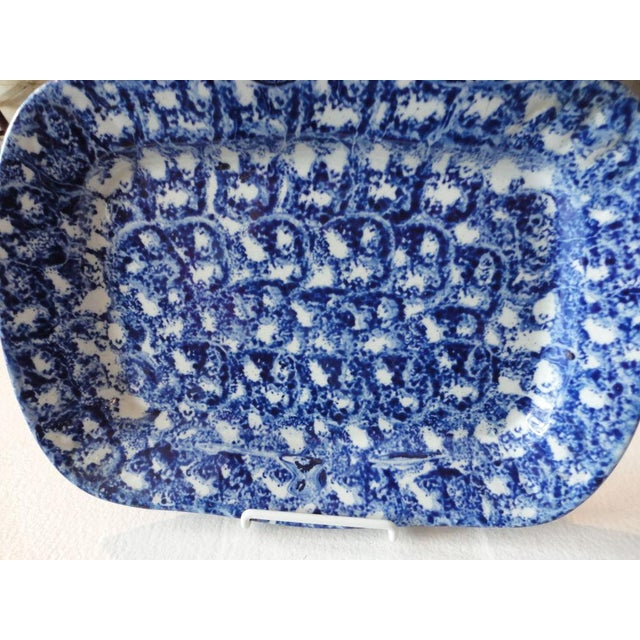 Large 19th Century Spongeware Platter from Pennsylvania - Image 3 of 4