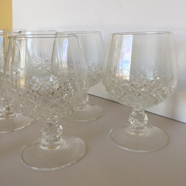 Transparent Diamond Faceted Brandy Snifter Glasses by Cristal d'Arques - Set of 10 For Sale - Image 8 of 8