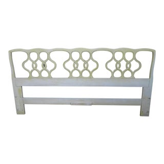 French Painted Cherry King Size Headboard by Henredon For Sale