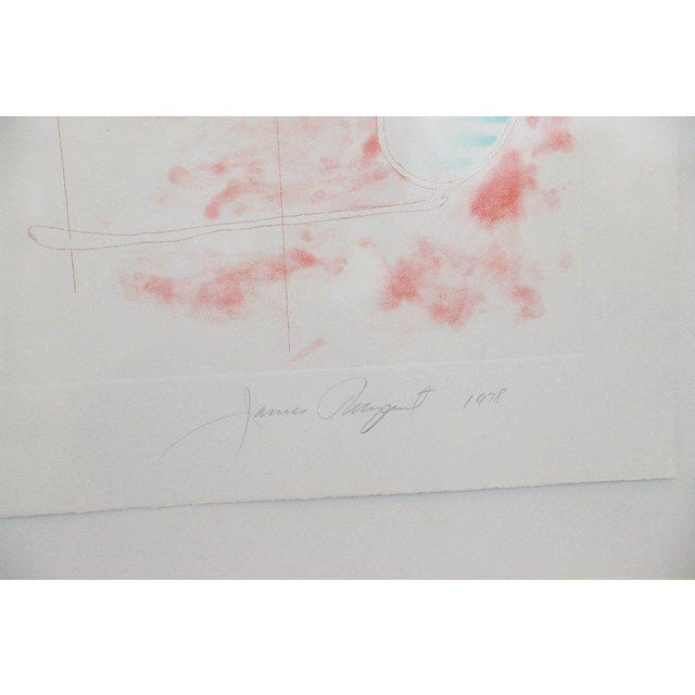 """Abstract Numbered 19 and Signed Print by Pop Artist James Rosenquist """"Number Wheel Dinner Triangle"""" - Image 3 of 6"""
