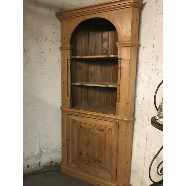20th Century Country Pine Corner Cupboard For Sale - Image 4 of 6
