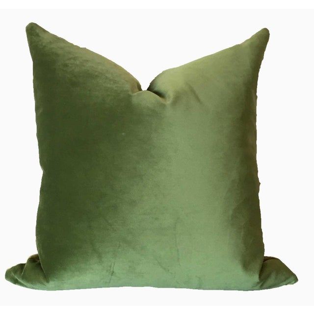 This stunning pillow features 2 different velvets in green tones, one a kelly and the other more of a golden olive. Either...