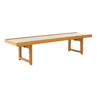 Torbjorn Afdal for Bruksbo Mid Century Teak Bench Coffee Table For Sale
