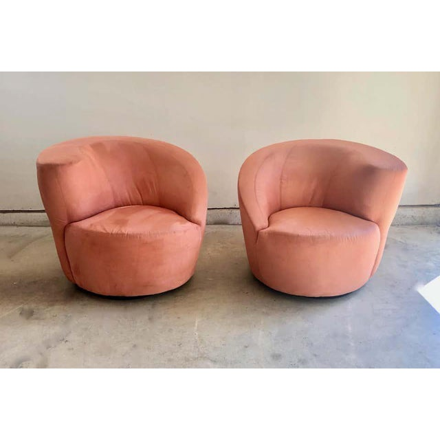 "Vladimir Kagan Vladimir Kagan for Directional ""Nautilus"" Swivel Chairs - A Pair For Sale - Image 4 of 13"