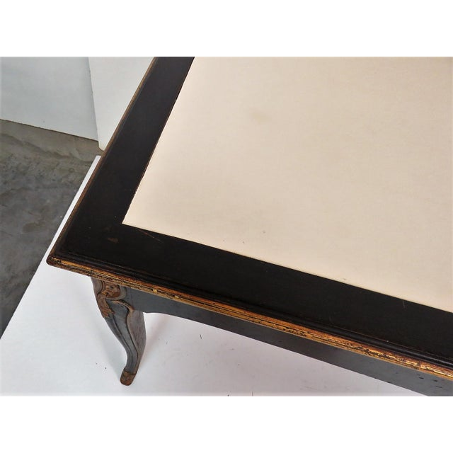 Maison Jansen Regency Style Ebonized & Gilt Leathertop Desk - Image 4 of 6