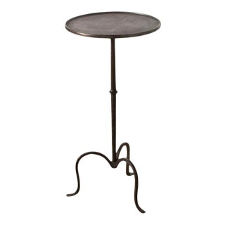 Aged Iron Martini Table For Sale