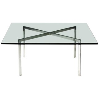 Stainless Steel Barcelona Table by Ludwig Mies van der Rohe for Knoll