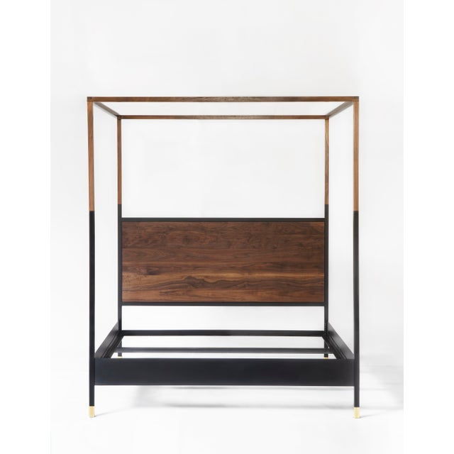 Not Yet Made - Made To Order Hampson Wood and Metal Canopy King Size Bed For Sale - Image 5 of 9
