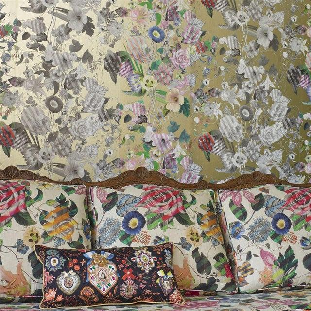 English Christian Lacroix Malmaison Doré Wallpaper Sample For Sale - Image 3 of 4