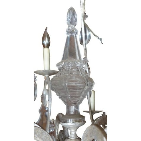 Silver 12-Light Crystal Chandelier - Image 4 of 6