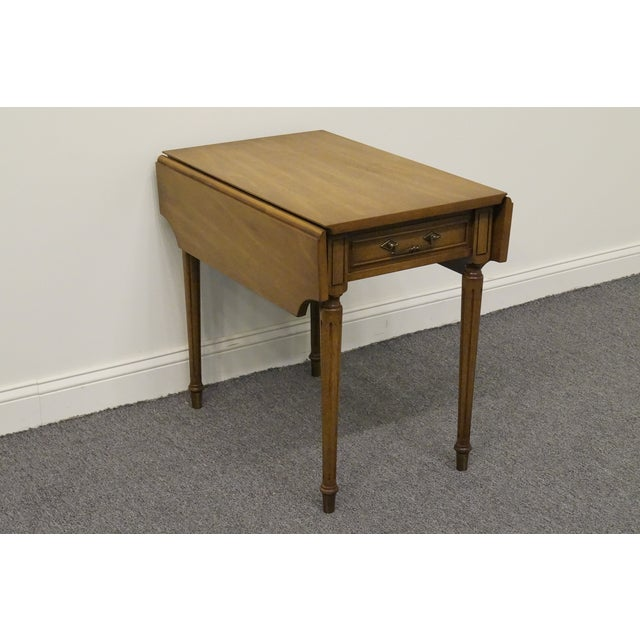 Traditional 20th Century Traditional Columbia Manufacturing Mahogany Pembroke End Table For Sale - Image 3 of 13