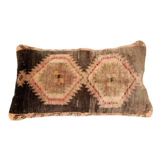 Turkish Rug Pillow Cover-Vintage Carpet Cushion For Sale
