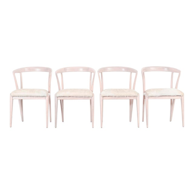 Set of Bertha Schaefer Dining Chairs For Sale