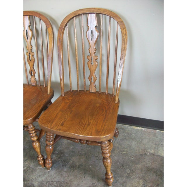 Ethan Allen Royal Charter Bowback Windsor Dining Chairs - Set of 4 - Image 3 of 7