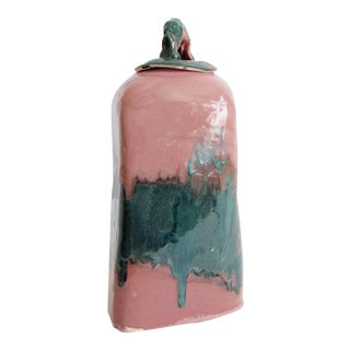 Pink and Teal Glazed Pottery For Sale