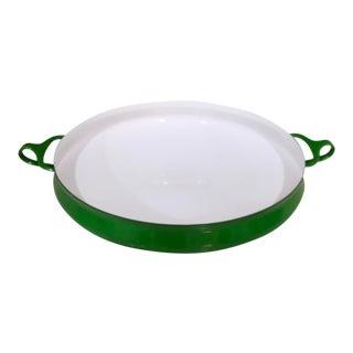 Mid-Century Modern Dansk Green Enamel Kobenstyle Pan For Sale