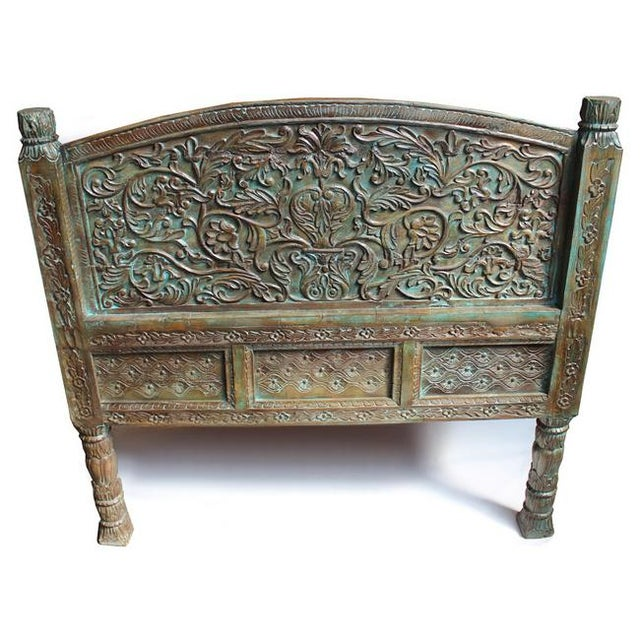Carved Takhat Daybed - Image 4 of 4